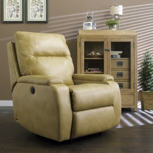 1228-500-Ivory  Leather Recliner