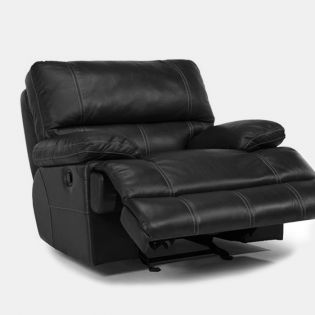 1236-54  Leather Glider Recliner