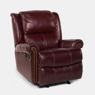 1357-54  Leather Rocking Recliner