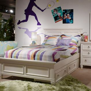 B572  Twin Panel Bed (침대 / No 서랍) (매트 규격: 97cmx 193cm)