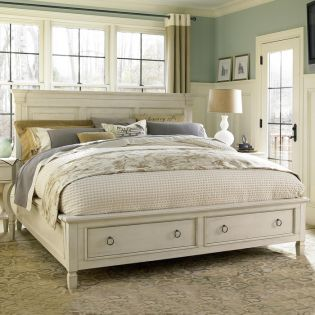 Summer Hill 987250SB  Panel Storage Bed (침대+협탁+화장대)