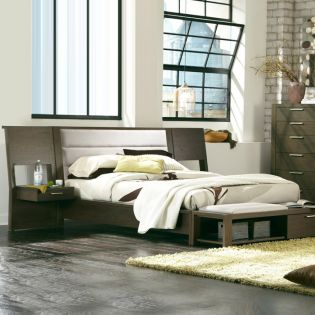 525 Montreal  Panel Queen Bed  (침대+2협탁+화장대+베드벤치)