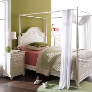 3850-4434K Charlotte  Canopy Full Bed (침대) (매트 규격: 134cmx 193cm)
