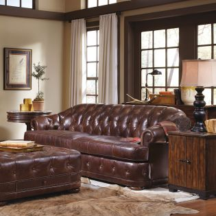 505501-5004 Kennedy  Chesterfield Leather Sofa