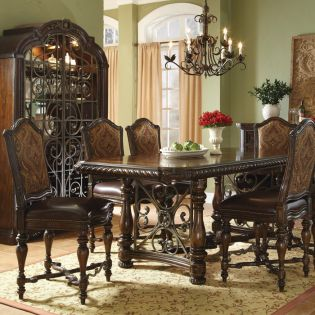 209226 Valencia  Dining Set (1 Table + 6 Chairs)
