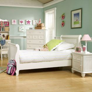 481-4303K Summer Breeze  Sleigh Twin Bed