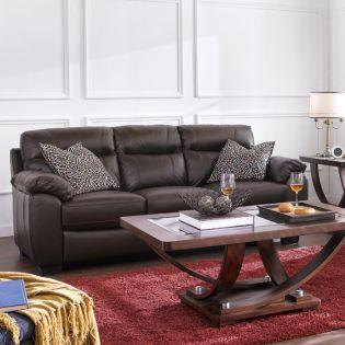 10266-3S  Leather Sofa