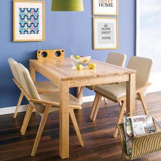 Nana-4C-Natural  Dining Set  (1 Table + 4 Chairs)