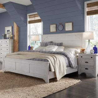 B4124  Panel Bed (침대+협탁)