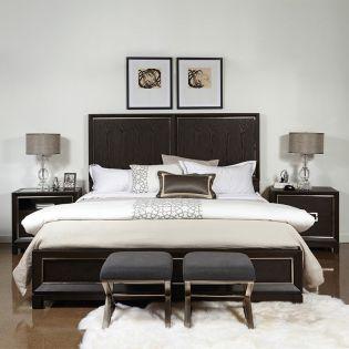 S068  Panel Queen Bed (침대+협탁+화장대)