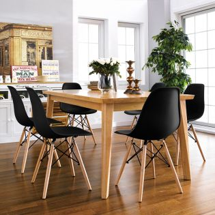 D638-6C  Dining Set  (1 Table + 6 Chairs)
