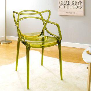 PC-601B-Clear Green  Chair