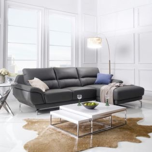 M8003-Grey  Sectional Leather Sofa