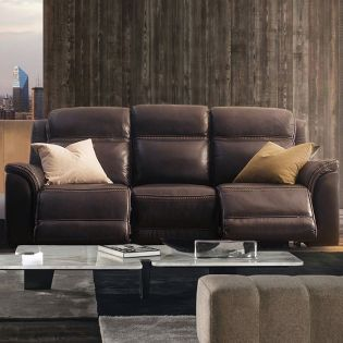 E1404  Power Leather Recliner Sofa