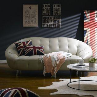 10271-25   Leather Sofa