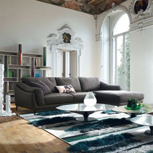 Masseto-Brown  Couch Leather Sofa