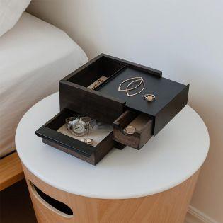 1005314-048 Mini Stowit-Walnut Jewelry Box