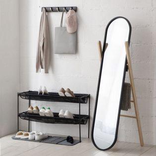 358375-045 Hub Floor-Blk/Nat Stand Mirror