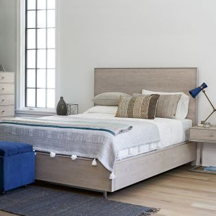 Spaces 874250SB  Tanner Queen Panel Bed Set   w/ Storage (침대+협탁+화장대)