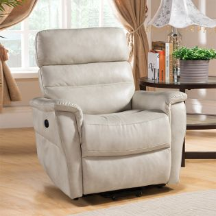 A209U-003-Ivory Power Recliner w/USB