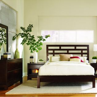 B966  Grid Platform King Bed