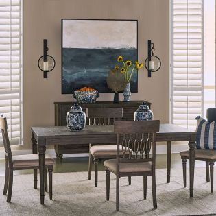Middleton-6  Dining Set  (1 Table + 6 Chairs)