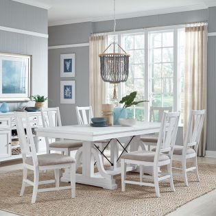 D4400-6  Dining Set  (1 Table + 4 Chairs +1 Bench)