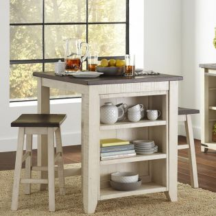 1706-36  3PC Counter Set  (1 Table + 2 Stools)