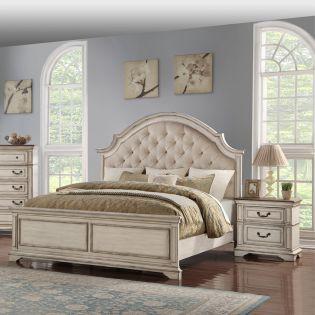 B1731 Anastasia  Panel Bed  (침대+협탁+화장대)