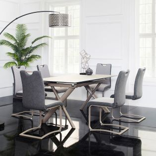 HT91019  Dining Set  (1 Table + 6 Chairs)
