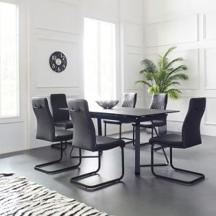 HT98008  Dining Set  (1 Table + 6 Chairs)