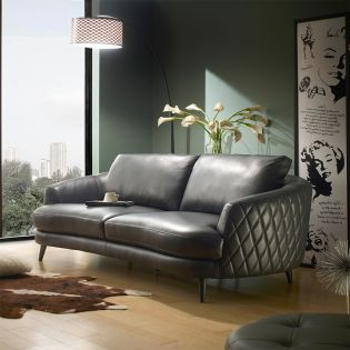 A0348  Leather Sofa