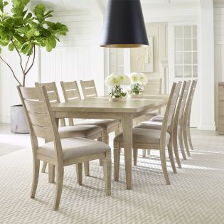 Milano 9660  Dining Set  (1 Table + 6 Side Chairs)