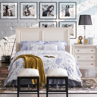 Ashby-Q-HB   Queen Panel Bed (침대)