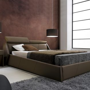 AY297  Leather King Bed