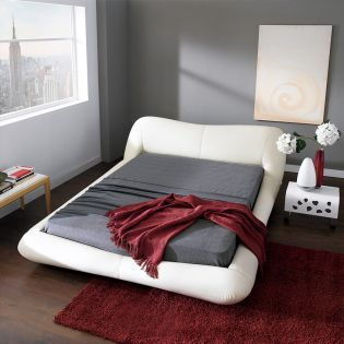 AY319  Leather King Bed