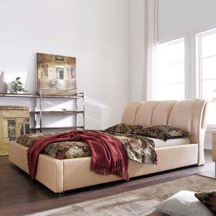 DSW006  Leather King Bed