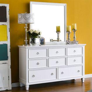 Tamarack-White  Drawer Dresser