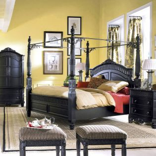 B651 Canopy Bed (침대+협탁+화장대)