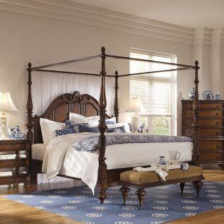 British Heritage  Canopy Bed (침대+협탁+화장대)