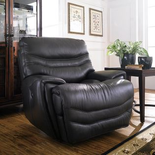 E543-Black  Automatic Leather Recliner