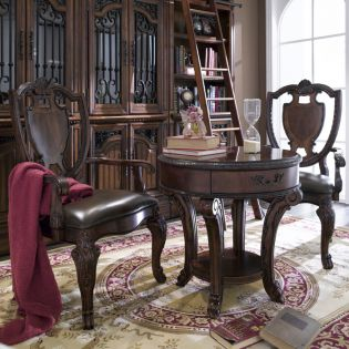 43205 Old World  Sheild Back Arm Chair