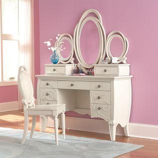 Y2147-30  Adelle Desk + Mirror