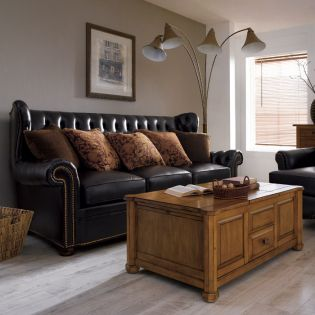 0810-11A  Top Leather Sofa