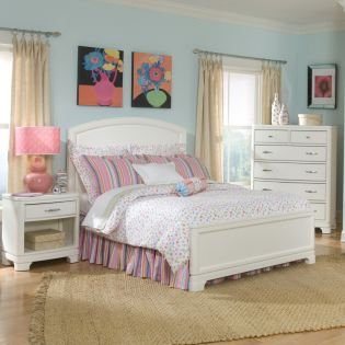 891-4104 Laguna Beach  Panel Full Bed (침대) (매트 규격: 134cmx 193cm)