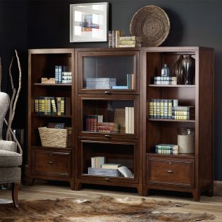5065-10475  Barrister Bookcase w/ Glass Door