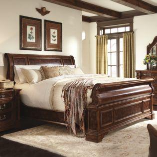 9843-301 Majorca  Sleigh Bed (침대+협탁+화장대)