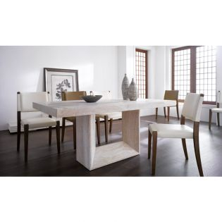 D7121-6  Dining Set (1 Table + 6 Chairs)  ~Natural Marble~