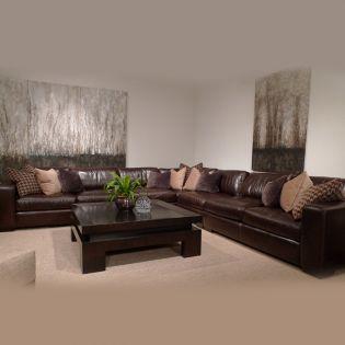 Dorian  Leather Sectional Sofa