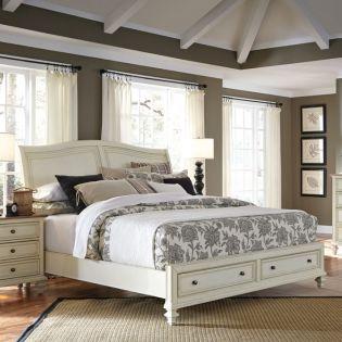 i67 Cottonwood  Sleigh Storage Queen Bed (침대+협탁+화장대)